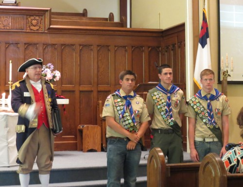 three eagle scouts